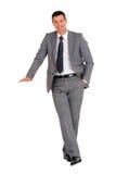 Uomo d'affari con il basamento Fotografia Stock Libera da Diritti