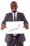 Uomo d'affari con il diagramma Fotografia Stock Libera da Diritti