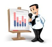 Uomo d'affari con il diagramma Immagine Stock Libera da Diritti