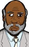 Uomo d'affari con il difetto dell'occhio Fotografie Stock Libere da Diritti
