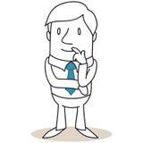 Uomo d'affari con il gesto pensieroso royalty illustrazione gratis