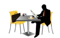 Uomo d'affari con il giornale Immagini Stock