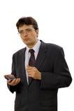 Uomo d'affari con il pda fotografie stock