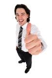 Uomo d'affari con il pollice in su Immagini Stock Libere da Diritti