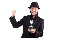 Uomo d'affari con il premio della stella Fotografie Stock