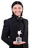 Uomo d'affari con il premio della stella Fotografia Stock Libera da Diritti