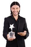 Uomo d'affari con il premio della stella Immagini Stock