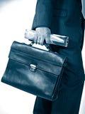 Uomo d'affari con il sacchetto Immagini Stock Libere da Diritti