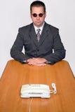 Uomo d'affari con il telefono Fotografie Stock Libere da Diritti