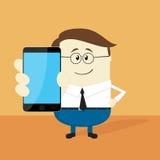 Uomo d'affari con il telefono astuto Immagini Stock