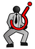 Uomo d'affari con incertezza Immagine Stock Libera da Diritti