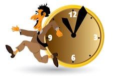 Uomo d'affari con l'orologio Immagini Stock