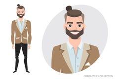 Uomo d'affari con la barba in vestito convenzionale Fotografia Stock Libera da Diritti
