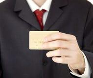 Uomo d'affari con la carta di credito Fotografia Stock