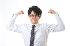 Uomo d'affari con la fiducia Fotografia Stock