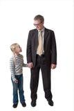Uomo d'affari con la figlia fotografia stock libera da diritti