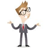 Uomo d'affari con la presentazione del gesto Fotografie Stock