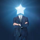 Uomo d'affari con la stella Fotografia Stock Libera da Diritti