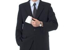 Uomo d'affari con la tazza di tè Fotografia Stock Libera da Diritti