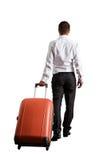 Uomo d'affari con la valigia Fotografia Stock Libera da Diritti