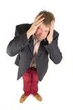 Uomo d'affari con la vista divertente Fotografia Stock
