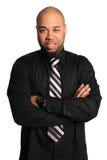 Uomo d'affari con le braccia attraversate Fotografia Stock
