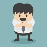 Uomo d'affari con le braccia piegate Fotografie Stock