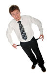 Uomo d'affari con le caselle vuote Fotografia Stock Libera da Diritti