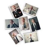 Uomo d'affari con le espressioni multiple immagini stock libere da diritti