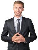 Uomo d'affari con le sue braccia attraversate Fotografie Stock
