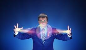 Uomo d'affari con magia immagini stock libere da diritti