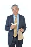 Uomo d'affari con Sanwdich Immagini Stock