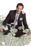 Uomo d'affari con soldi Immagini Stock