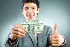 Uomo d'affari con soldi fotografie stock libere da diritti