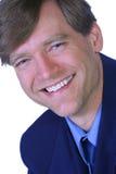 Uomo d'affari con un grande sorriso Fotografie Stock Libere da Diritti