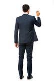 Uomo d'affari con un indicatore nero Fotografia Stock Libera da Diritti
