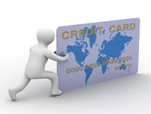 Uomo d'affari con una carta di credito Immagini Stock Libere da Diritti