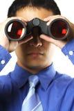 Uomo d'affari con visione Fotografie Stock Libere da Diritti