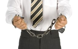 Uomo d'affari concatenato Immagine Stock Libera da Diritti