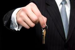 Uomo d'affari - concetto del bene immobile Immagini Stock