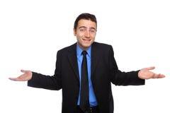 Uomo d'affari confuso Fotografie Stock Libere da Diritti