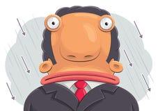 Uomo d'affari confuso Fotografia Stock Libera da Diritti