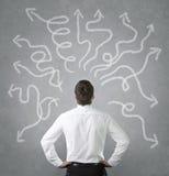 Uomo d'affari confuso Immagine Stock