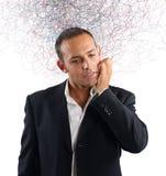 Uomo d'affari confuso Fotografia Stock