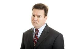 Uomo d'affari così triste Immagine Stock