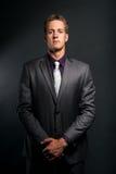 Uomo d'affari in costume Fotografia Stock
