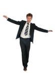 Uomo d'affari d'equilibratura Immagini Stock