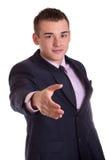 Uomo d'affari d'invito Fotografia Stock