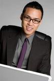 Uomo d'affari del calcolatore Immagine Stock