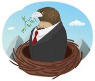 Uomo d'affari del falco Fotografia Stock